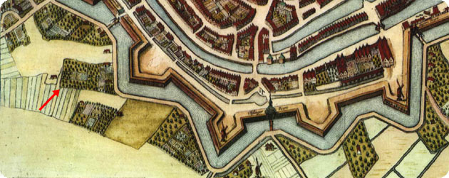 FRAGMENT KAART MIDDELBVRGVM DOOR JOAN BLAEU IN 1652